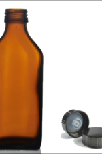 500ml amber bottle with black cap