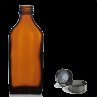 500ml amber bottle with black cap